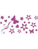 naklejki na ścianę do pokoju dziecka - kwiatki motyle 1143