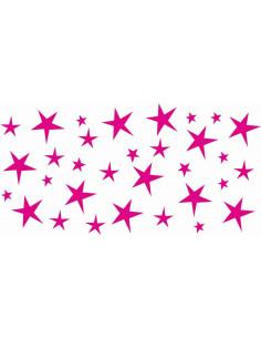naklejki na ścianę do pokoju dziecka - gwiazdki 1144