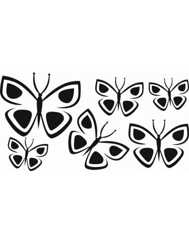 Naklejki na ścianę do pokoju dziecka - Motylki 1154
