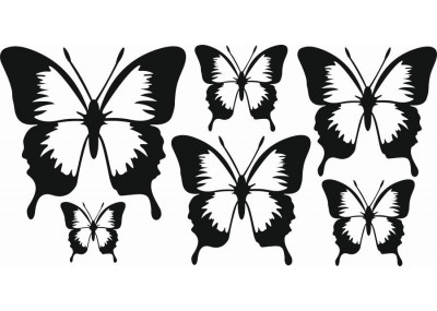 Naklejki na ścianę do pokoju dziecka - Motyle 1155