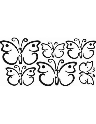 Naklejki na ścianę do pokoju dziecka - Motylki 1157