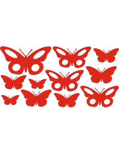 Naklejki na ścianę do pokoju dziecka - Motyle 1158