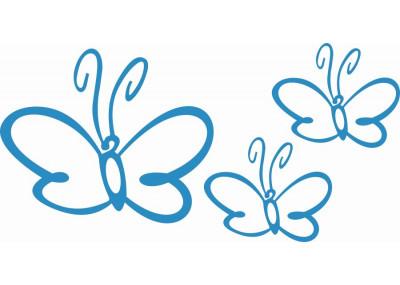 Naklejki na ścianę do pokoju dziecka - Motyle 1159