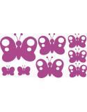 Naklejki na ścianę do pokoju dziecka - Motylki 1161
