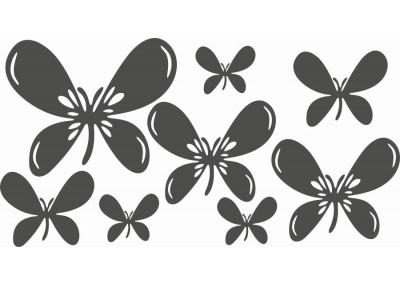 Naklejki na ścianę do pokoju dziecka - Motyle 1164