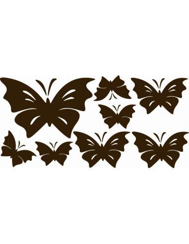 Naklejki na ścianę do pokoju dziecka - Motylki Motyle 1165