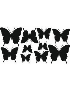 Naklejki na ścianę do pokoju dziecka - Motylki 1167