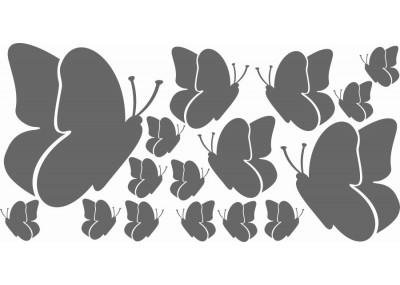 Naklejki na ścianę do pokoju dziecka - Motyle 1168