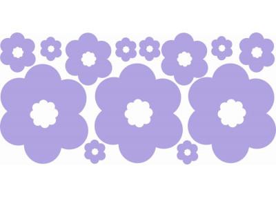 Naklejki na ścianę do pokoju dziecka - Kwiatki 1179
