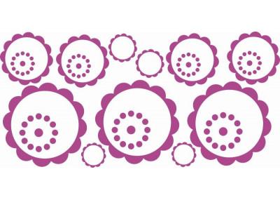 Naklejki na ścianę do pokoju dziecka - Kwiatki 1180