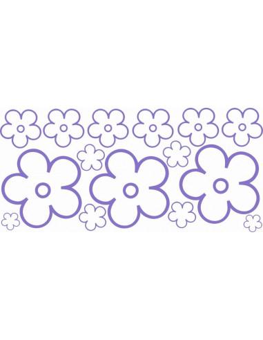 Naklejki na ścianę do pokoju dziecka - Kwiatki 1182