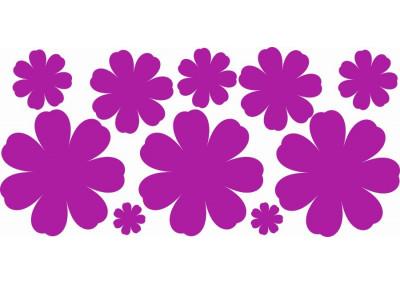 Naklejki na ścianę do pokoju dziecka - Kwiatki 1183