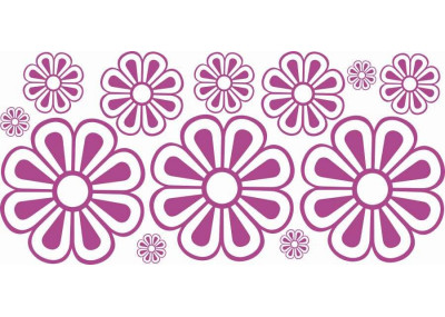 Naklejki na ścianę do pokoju dziecka - Kwiatki 1184