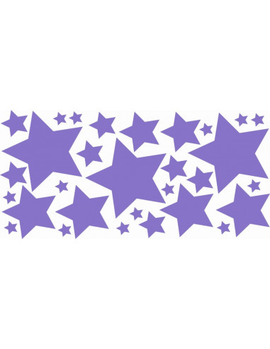 Naklejki na ścianę do pokoju dziecka - Gwiazdki 1192