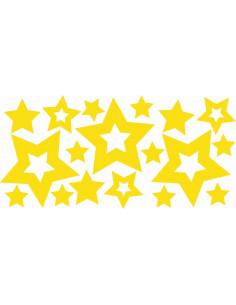 Naklejki na ścianę do pokoju dziecka - Gwiazdki 1195