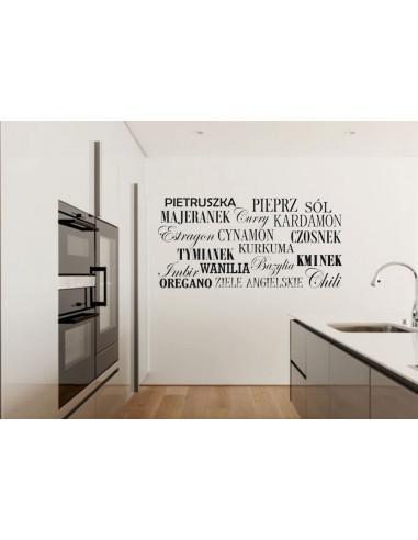 naklejka do kuchni Przyprawy 752