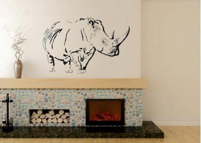 naklejka ścienna zwierzęta afrykańskie nosorożec 1052