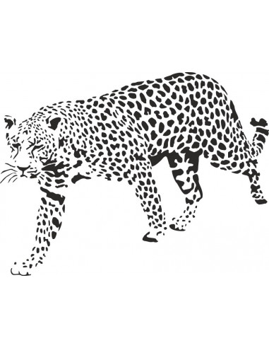 naklejka zwierzęta afrykański lampart 1053