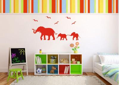 Naklejka na ścianę Słonie 1055