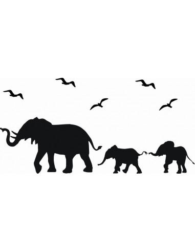 Naklejka ścienna Słonie 1055