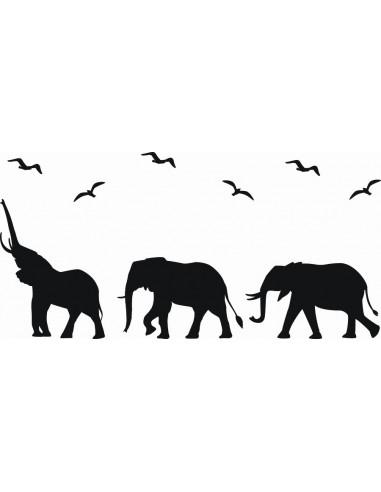 Naklejka ścienna Słonie 1056