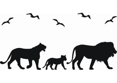 Naklejka ścienna Lew Tygrys 1059