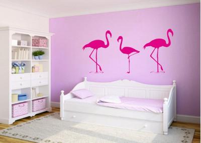 Naklejka na ścianę Flamingi 1062