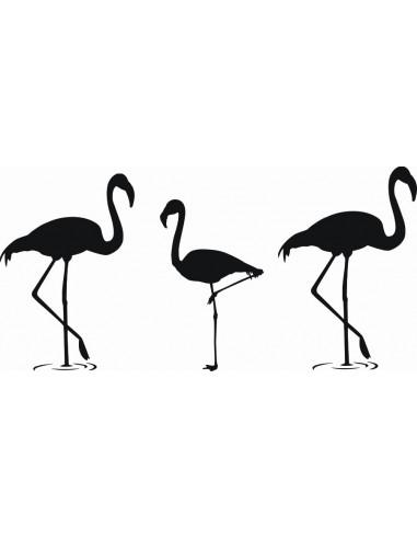 Naklejka ścienna Flamingi 1062
