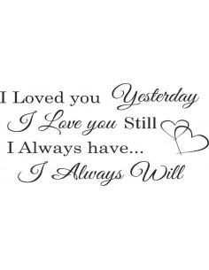 I Loved You Yesterday I Love You Still 357