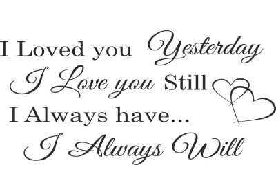 I Loved You Yesterday I Love You Still 357