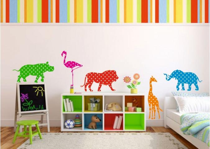 Naklejka Na ścianę Do Pokoju Dziecięcego żyrafa 1063 Mocnaklejek