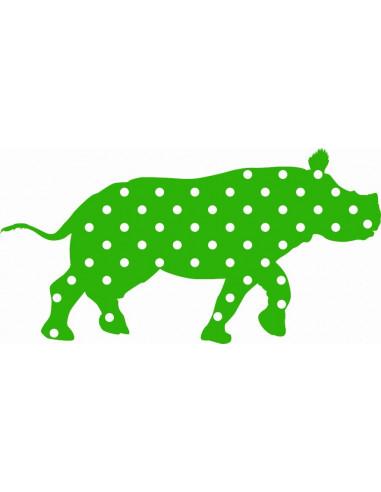 Naklejka na ścianę nosorożec 1067