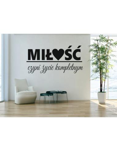 napis na ścianę miłość czyni życie kompletnym 407