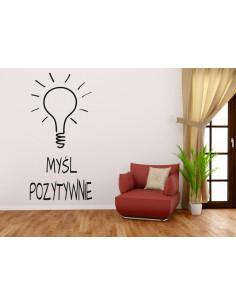 naklejka na ścianę Myśl pozytywnie 410