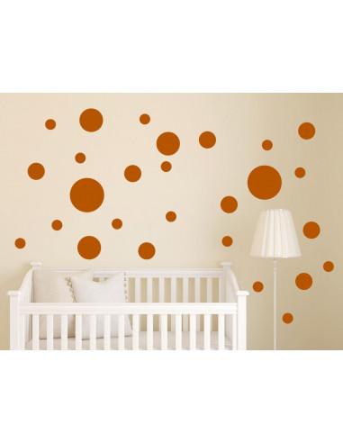 Naklejki na ścianę - kropki grochy