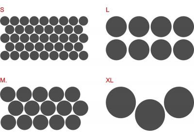 Naklejki ścienne - kropki grochy