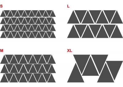 Naklejki na ścianę - trójkąty