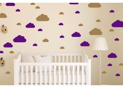 Naklejki na ścianę - chmurki
