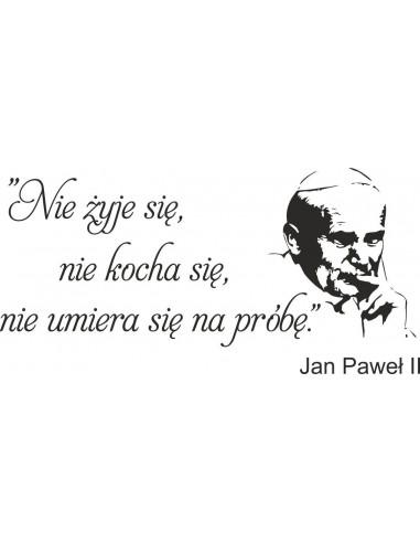 napis na ścianę Jan Paweł ll