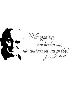 napis Jan Paweł ll