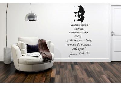 naklejka na ścianę Jan Paweł ll Jeszcze będzie pięknie 418