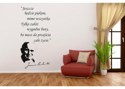 naklejka na ścianę jan paweł ll 419