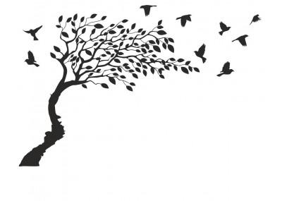 naklejka drzewo na ścianę 1504