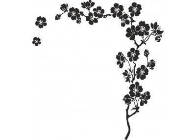 Naklejka na ścianę motyw kwiatowy