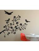 Ptaki na gałęzi naklejka na ścianę 1511
