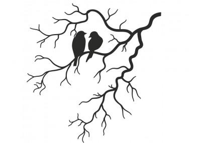 Ptaki na gałęzi naklejka ścienna
