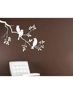 naklejka ścienna ptaki na gałęzi  1513