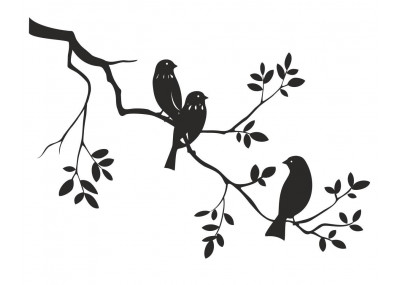 naklejka ścienna ptaki na gałęzi