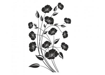 naklejka dekoracyjne kwiaty