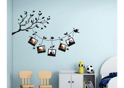 Drzewo gałąź z ramkami na zdjęcia